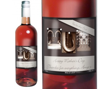 Personalised Affection Art Mum Rose Wine with Gift Box