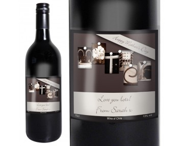 Personalised Affection Art Mother Red Wine with Gift Box