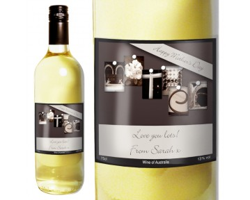Personalised Affection Art Mother White Wine with Gift Box