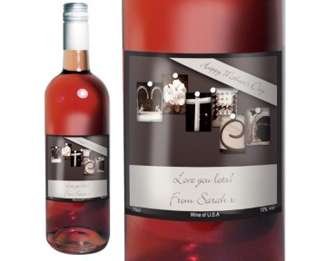 Personalised Affection Art Mother Rose Wine with Gift Box