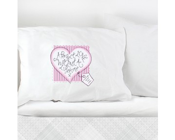 Personalised Heart Stitch A Perfect Love Pillowcase