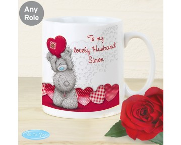 Personalised Me To You Heart Mug