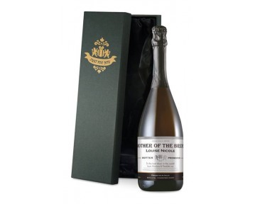 Prosecco with Contemporary Wedding Label in a Silk Lined Box