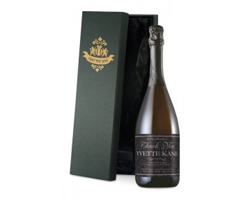 Personalised Prosecco with Thank You Floral Label in a Silk Lined Box