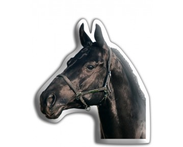 Black Horse Shaped Cushion