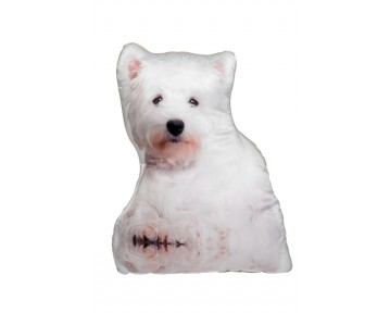West Highland Terrier Shaped Cushion