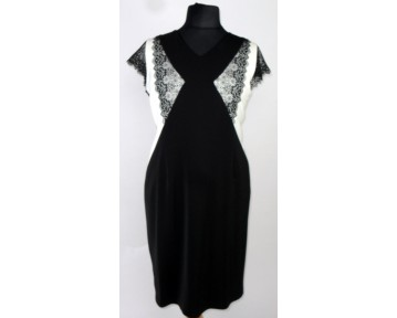 Personal Choice Black and Cream lace dress (plus sizes)