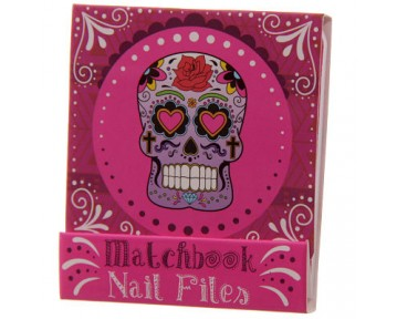 Funky Nail File Matchbook - Candy Skulls Day of the Dead