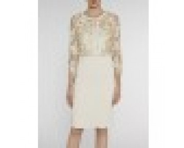 Gina Bacconi cream & gold wedding outfit