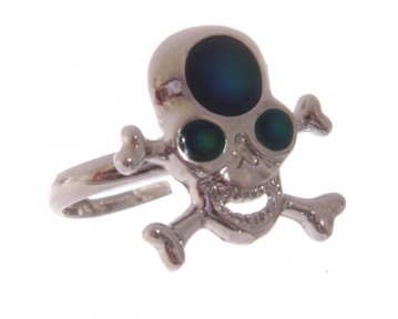 Fun Skull and Cross Bone Mood Rings