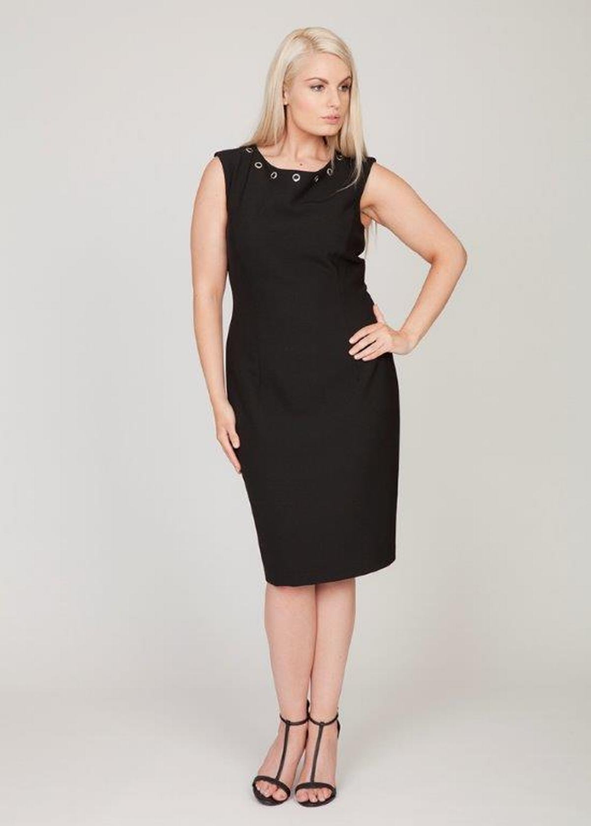 Black Personal Choice Black Eyelet Dress Plus Sizes In